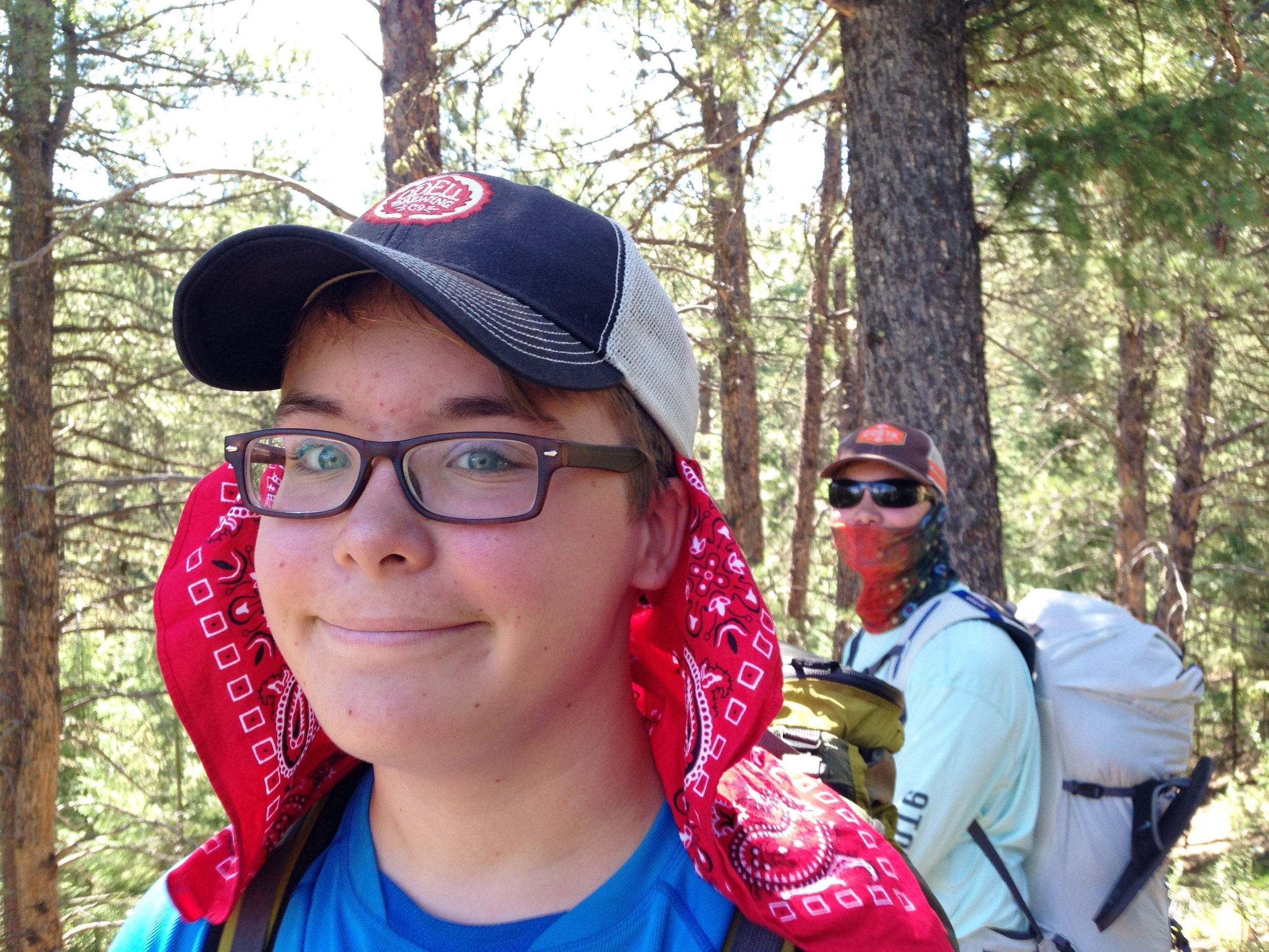 "Day 3:  My kids, fiancé and dog joined me at Little Scraggy Trailhead for two low-mileage days of hot, but easy, hiking and camping. I was all smiles at the beginning, but that would soon change. Listen to ""  The Motherload  "" podcast episode to hear what  really  went down on Day 3 and Day 4.  Daily mileage: 5.9. Total miles: 33.4."