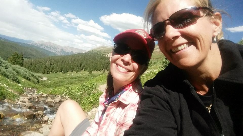Day 11:  I hiked 6.7 miles to meet my friend Dani in Copper Mountain (beginning of Segment 8) for two days of hiking and an overnight. This selfie shows where we filtered water at the headwaters of Guller Creek near   Janet's Cabin  , part of the 10th Mountain Division Hut Association. We hiked up and over Searle Pass and camped above 12,000 feet.  Daily mileage: 16.9. Total miles: 127.4.