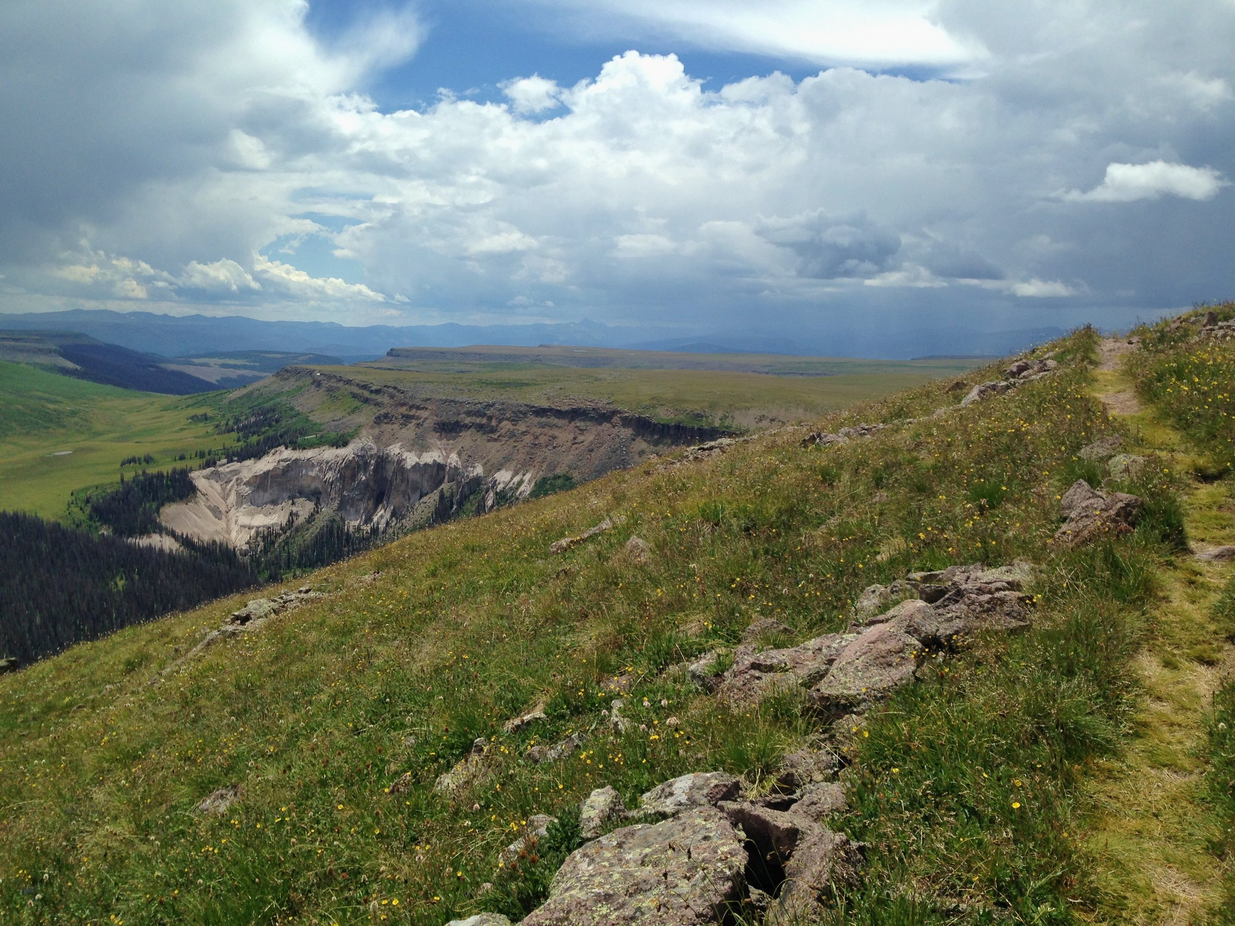 Colorado Trail Segment 21 storms building over Snow Mesa by Becky Jensen.jpg