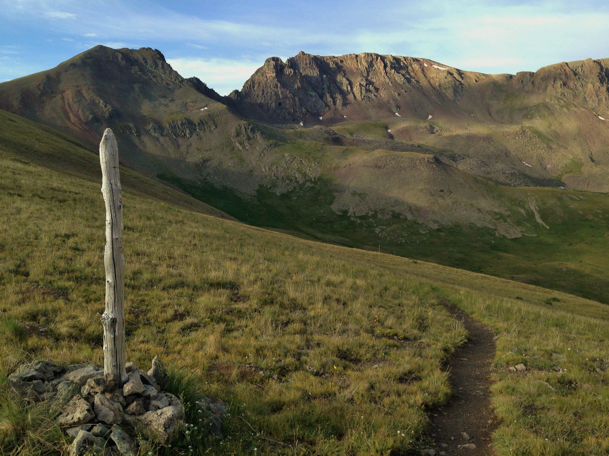 Colorado Trail Segment 20 morning first saddle after San Luis Peak by Becky Jensen.jpg