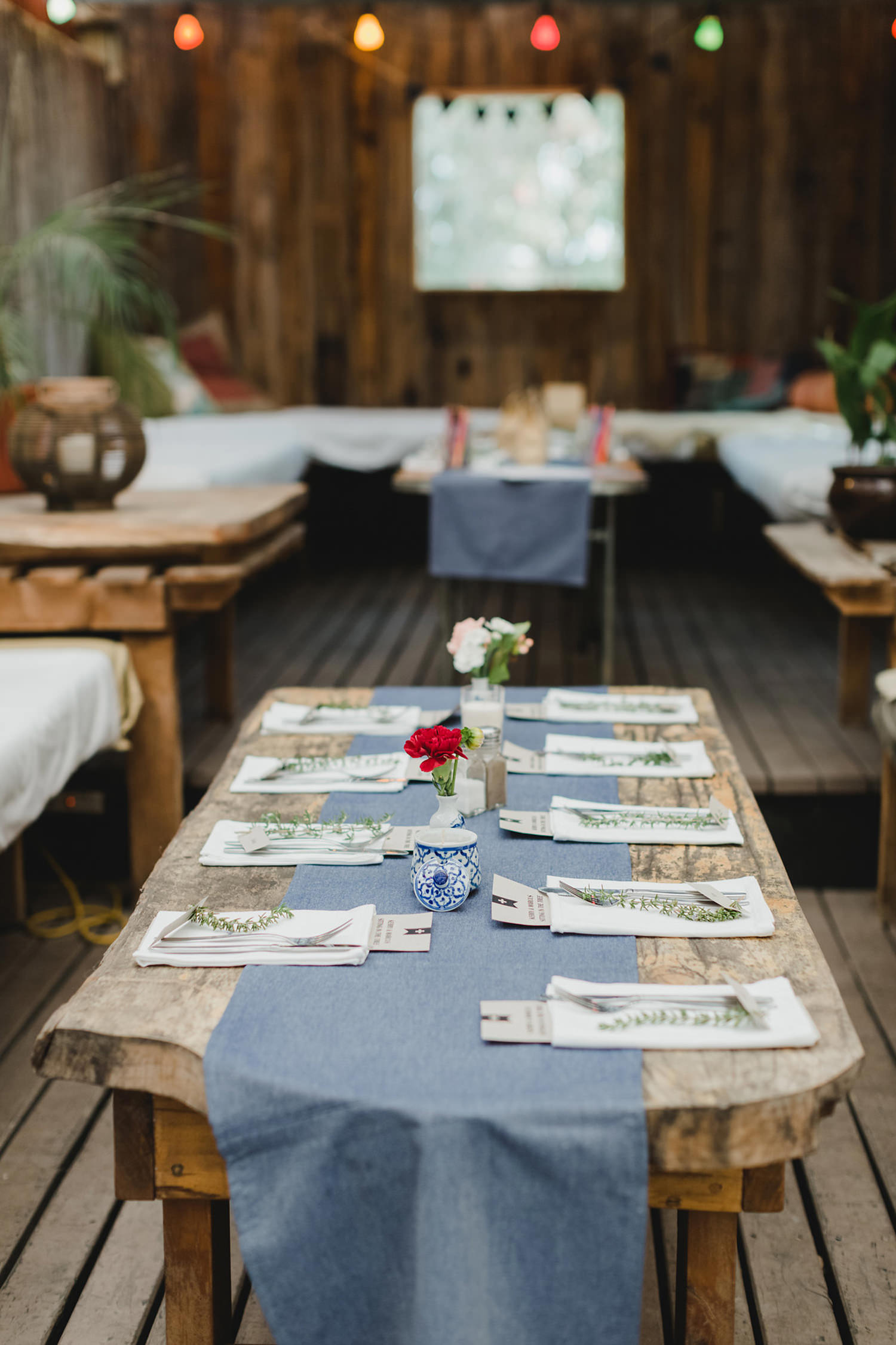 Crab Farm Winery Restaurant table setting