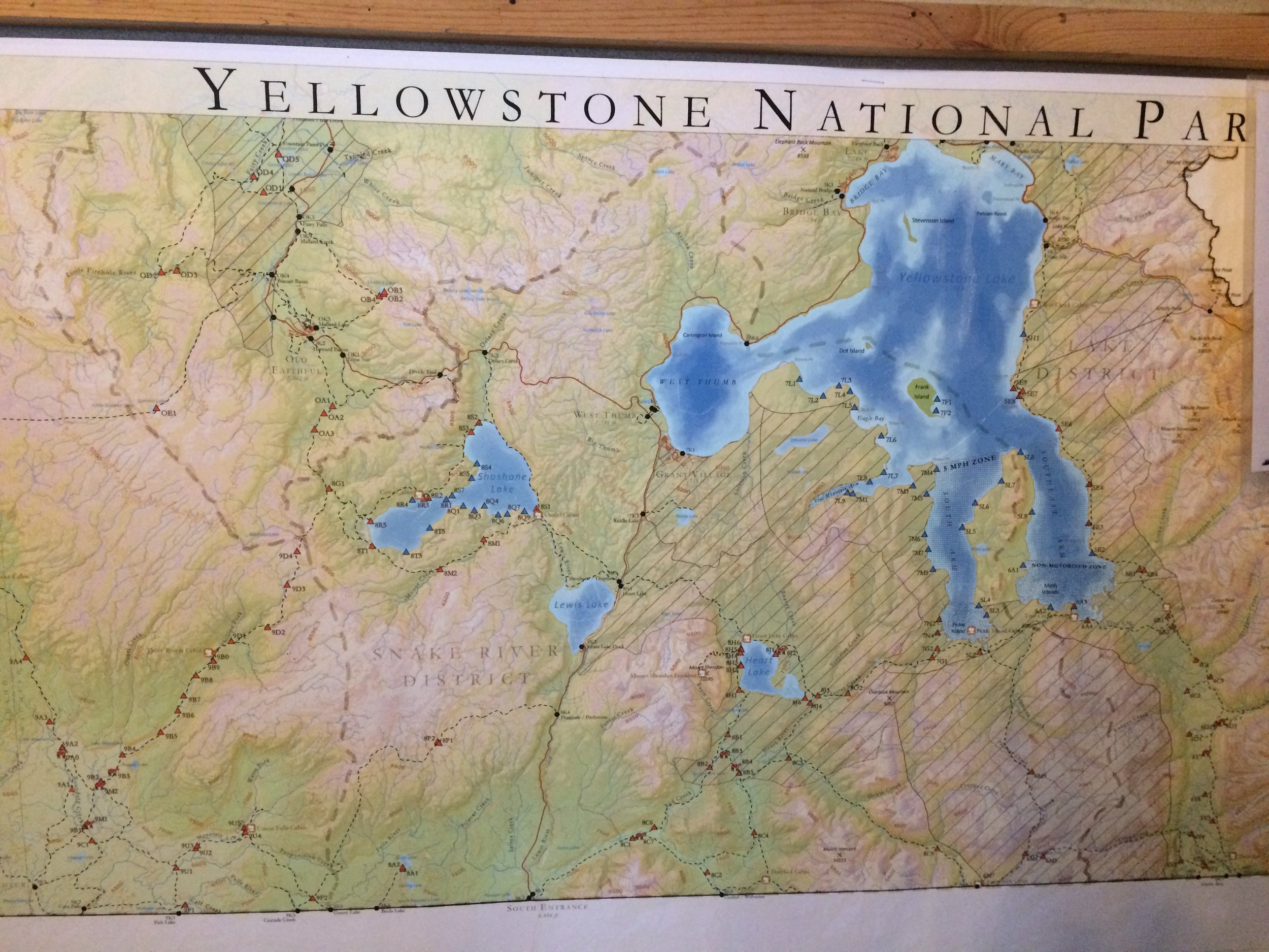 Yellowstone is roughly 50X60 miles as the crow flies. 3500 square miles. bigger than Rhode Island and Delaware, combined.
