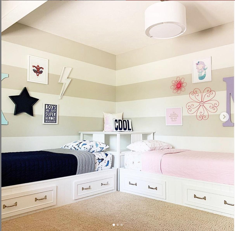 Shared Boy Girl Room Decor For Kids