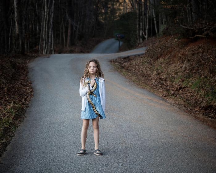 Untitled - Girl with Snake, Rabun, GA