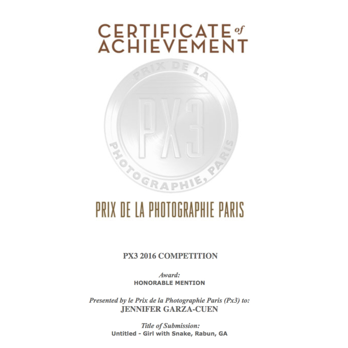 PX3 2016 Award