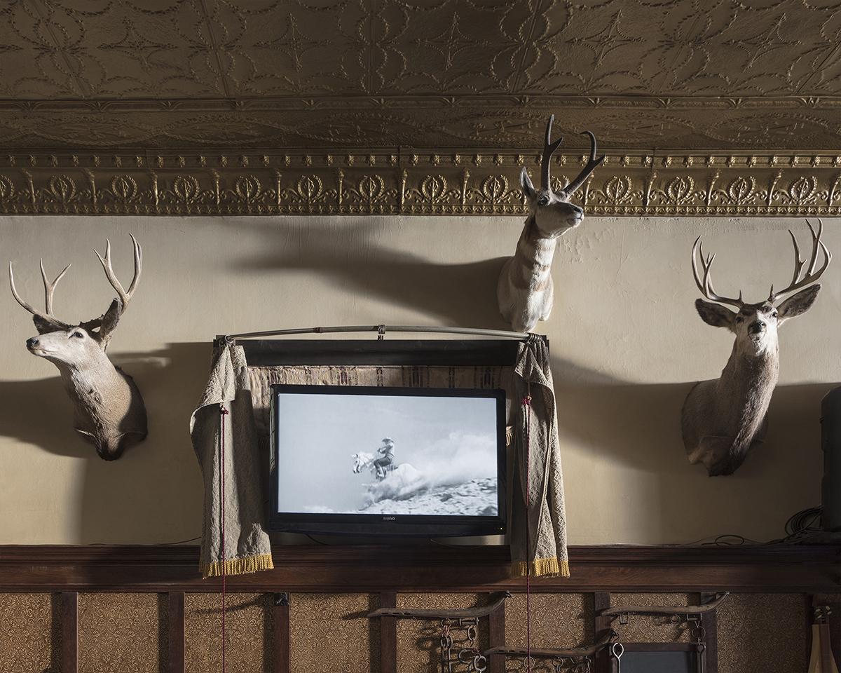 Untitled - Man on White Horse, Buffalo, WY