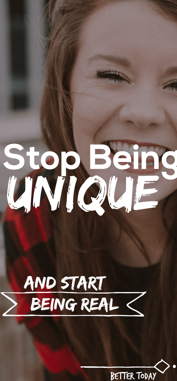 Be authenic not unique