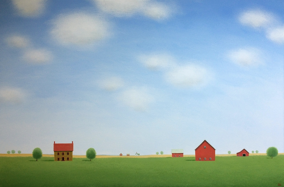 "The Quiet of the Farm     24"" x 36"""