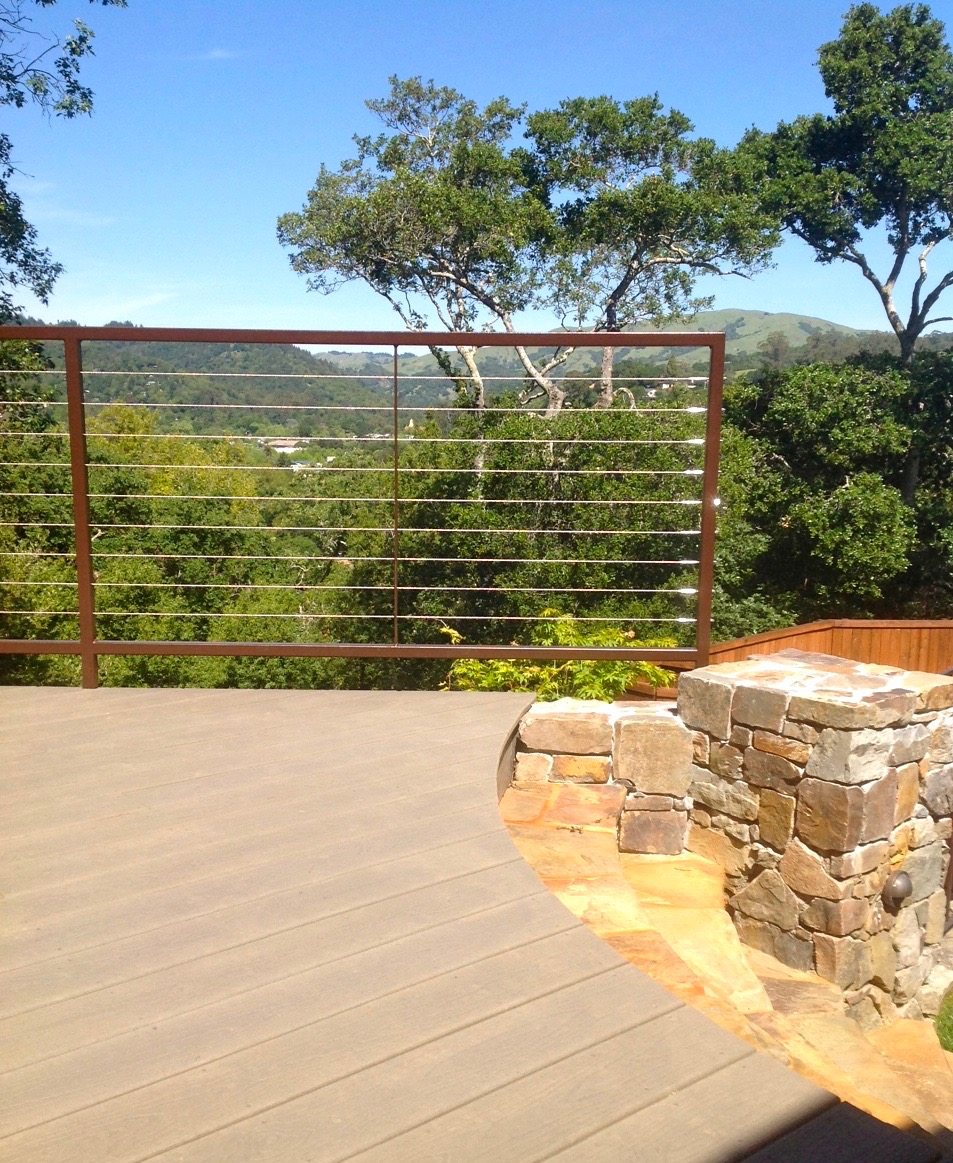 COMPOSITE DECK AND FLAGSTONE STAIRS