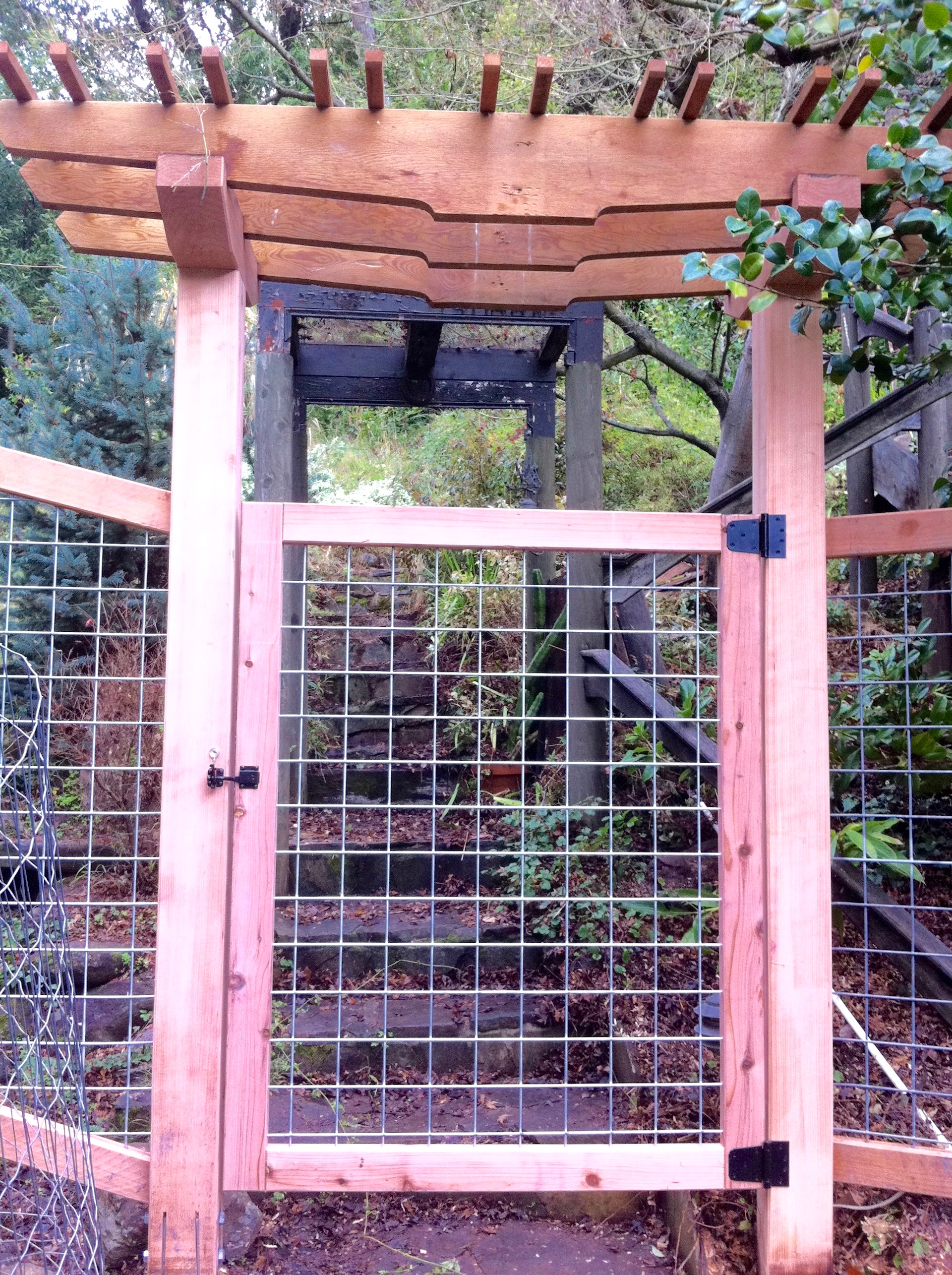 ENTRY ARBOR AND HOGWIRE GATE