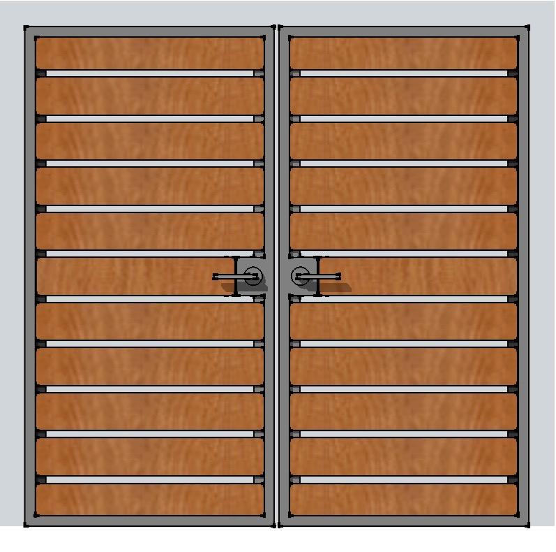 DOUBLE SWING HORIZ ENTRY GATE DESIGN