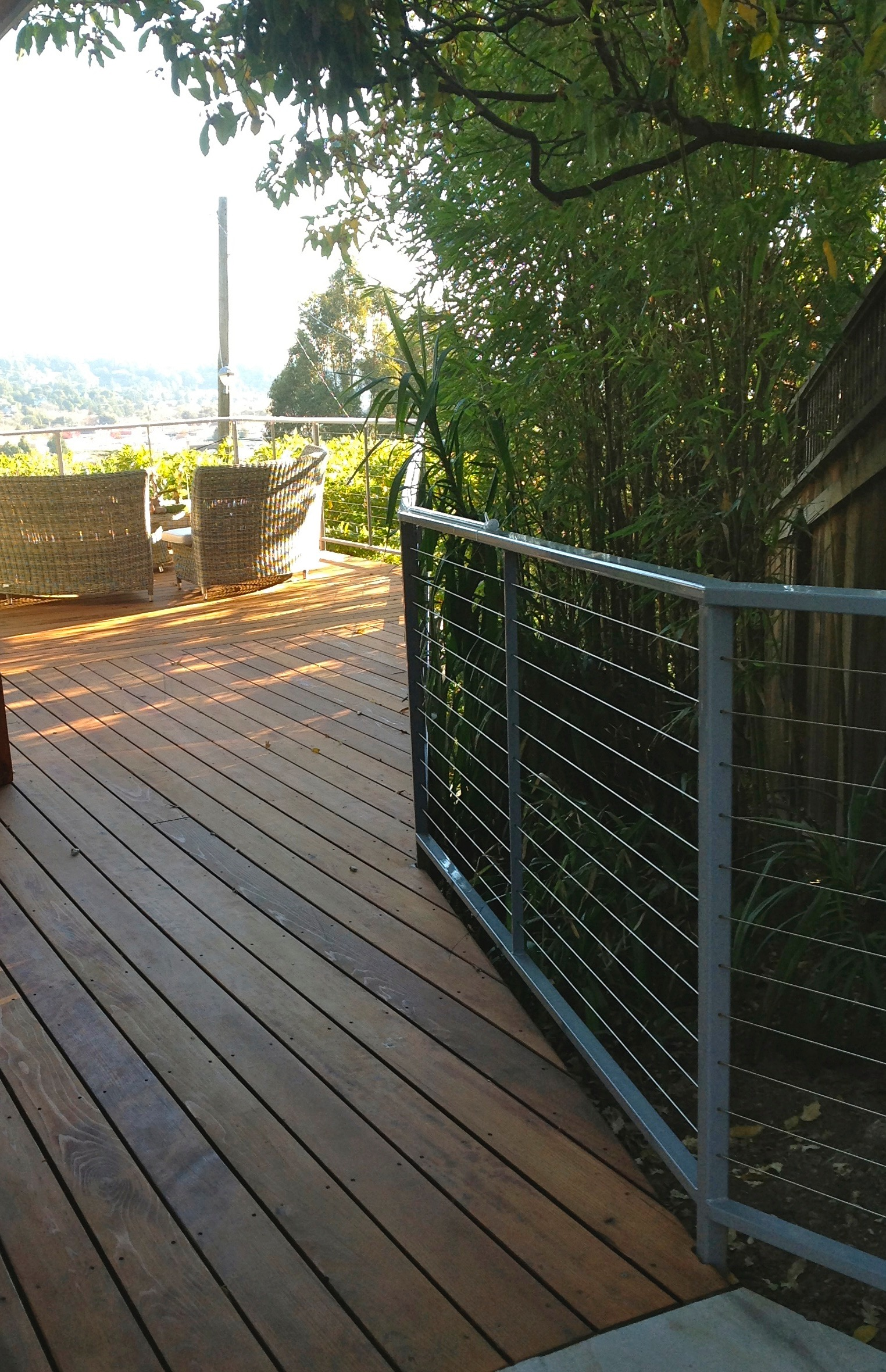 STEEL CABLE RAILING GREY