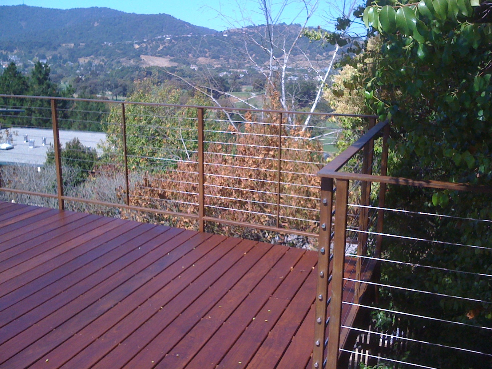 WELDED STEEL CABLE RAILING NATURAL PATINA