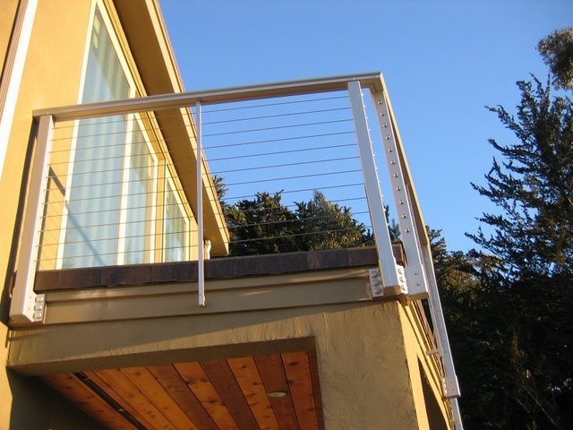 ALUMINUM CABLE RAIL FASCIA MOUNTED