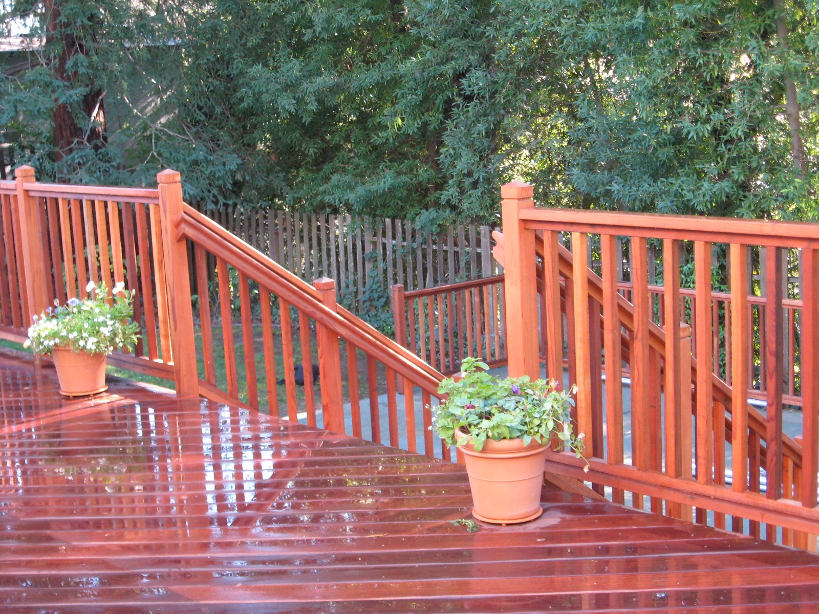REDWOOD PICKET RAILING