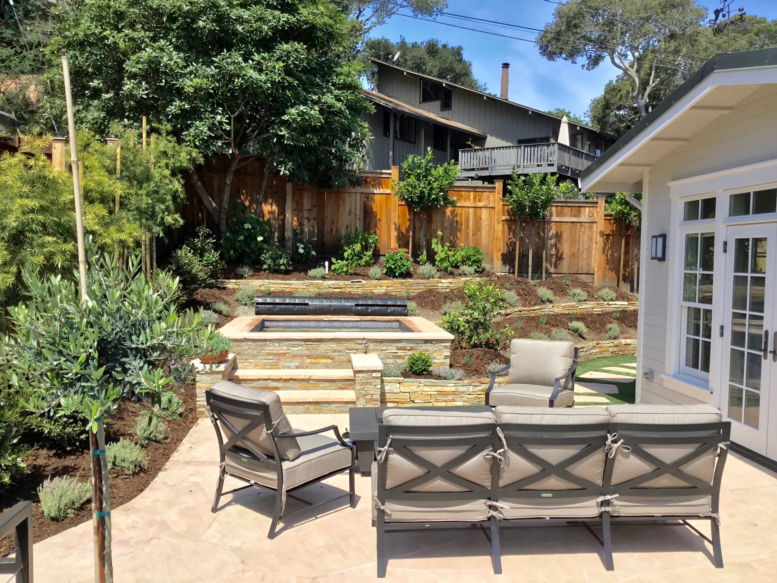 PATIOS AND IN-GROUND SPA