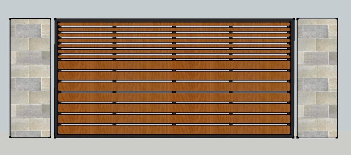 HORIZ STEEL: WOOD DRIVEWAY GATE .jpg