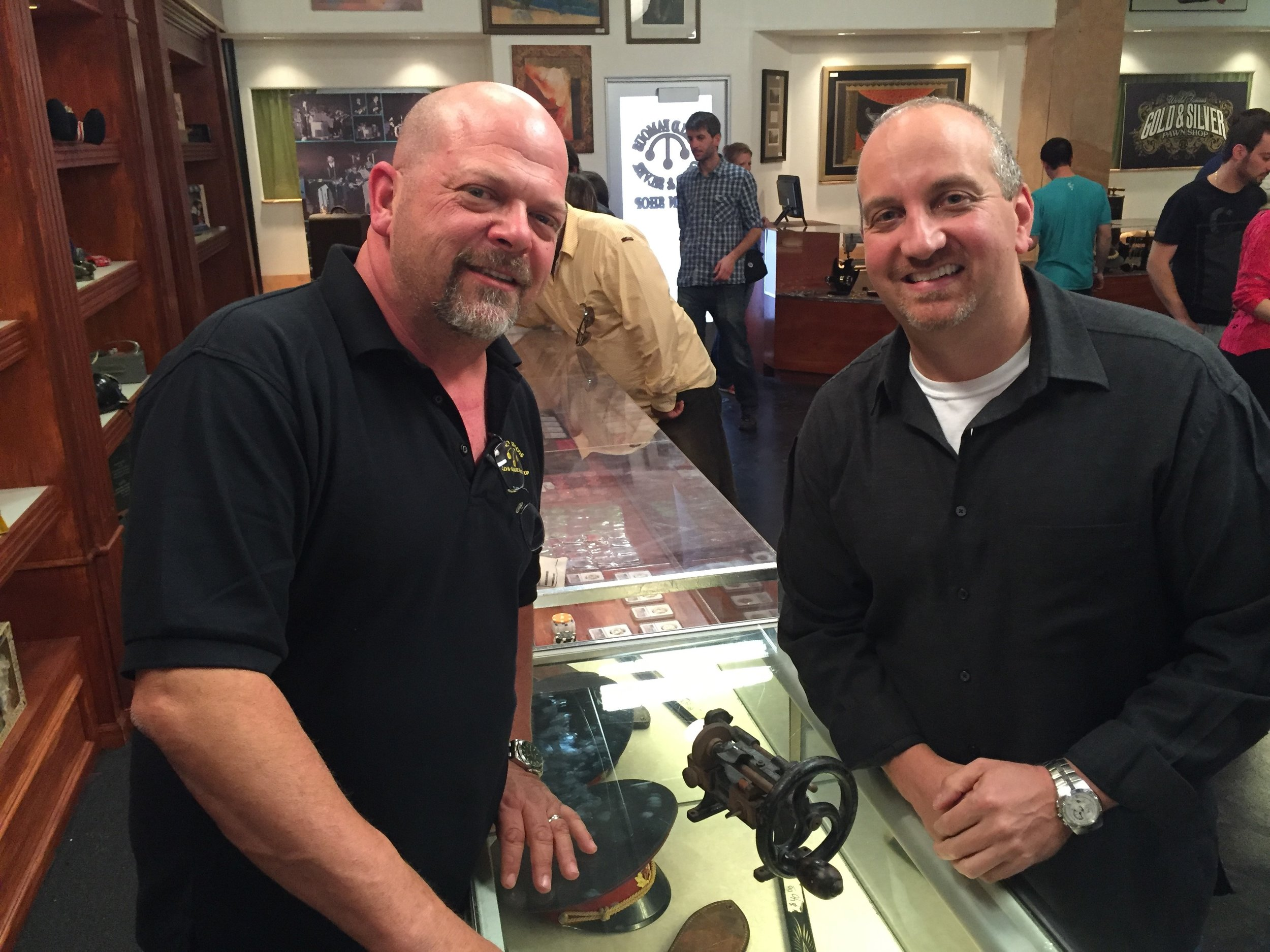 Joel and Rick from Pawn Stars - November 2015  Click on the image to visit The History Channel Page and view our episode of Pawn Stars!