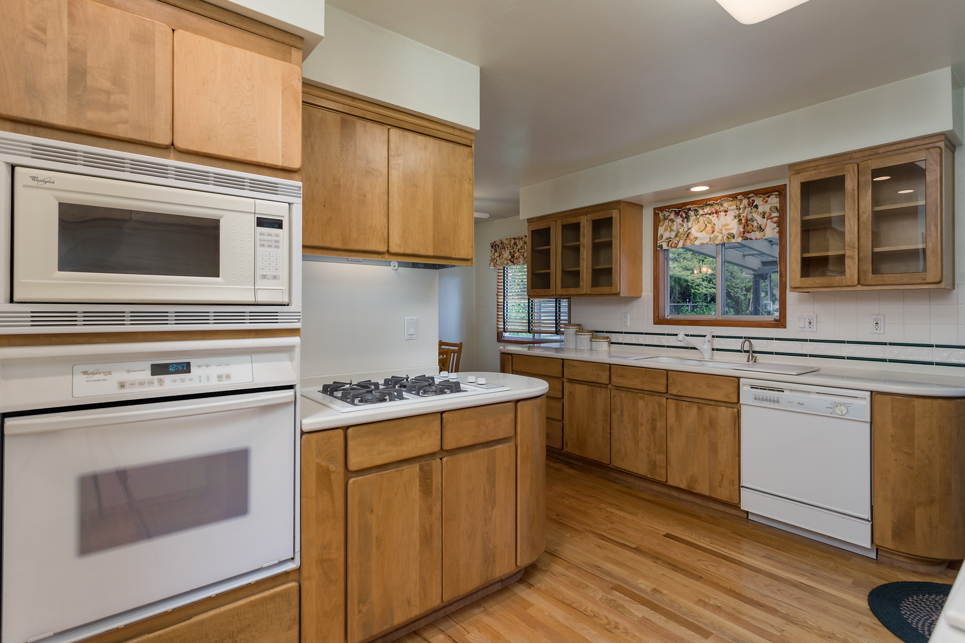 Kitchen with a generous amount of cabinet storage and counter space.