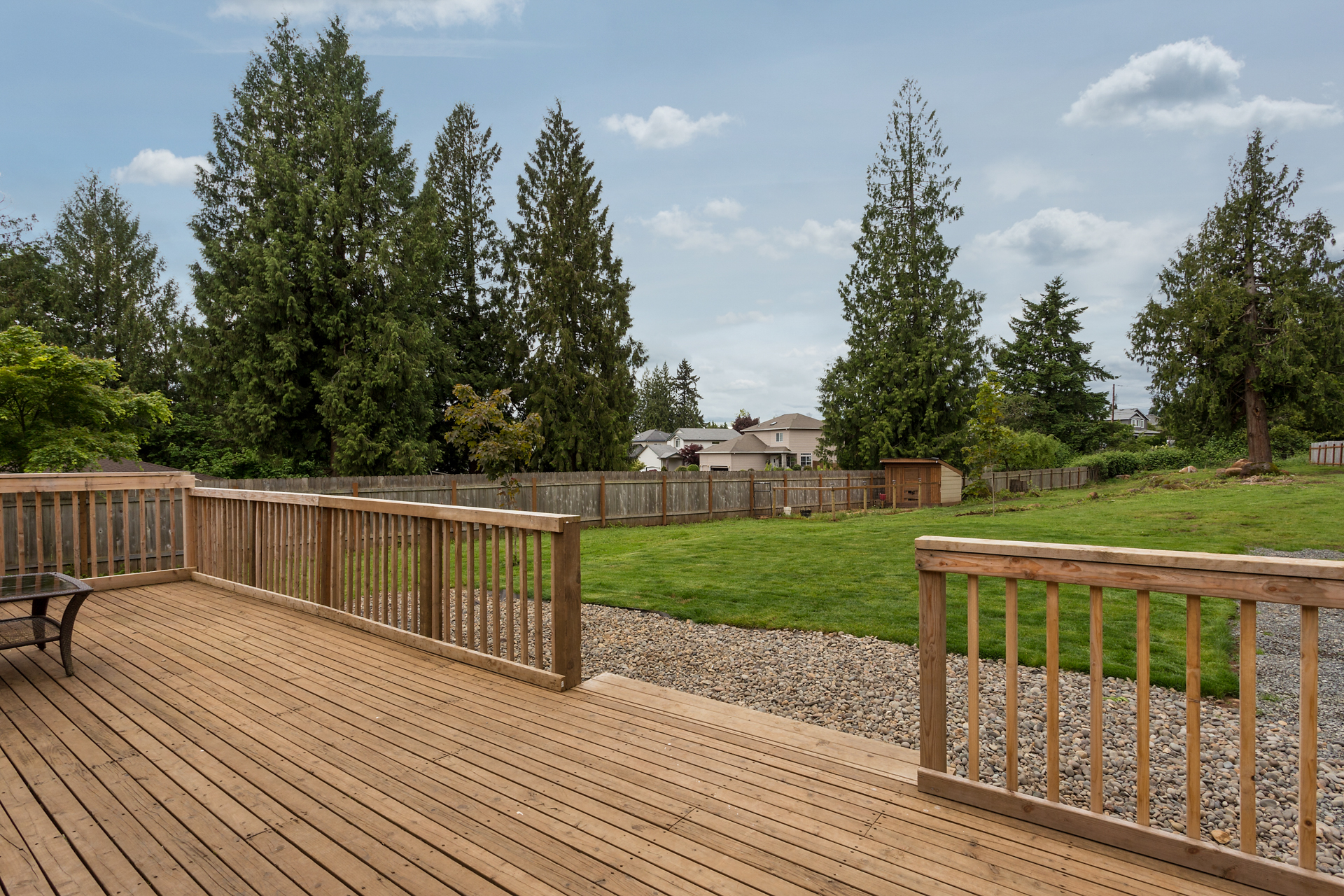 Large deck, just perfect for backyard barbecues!