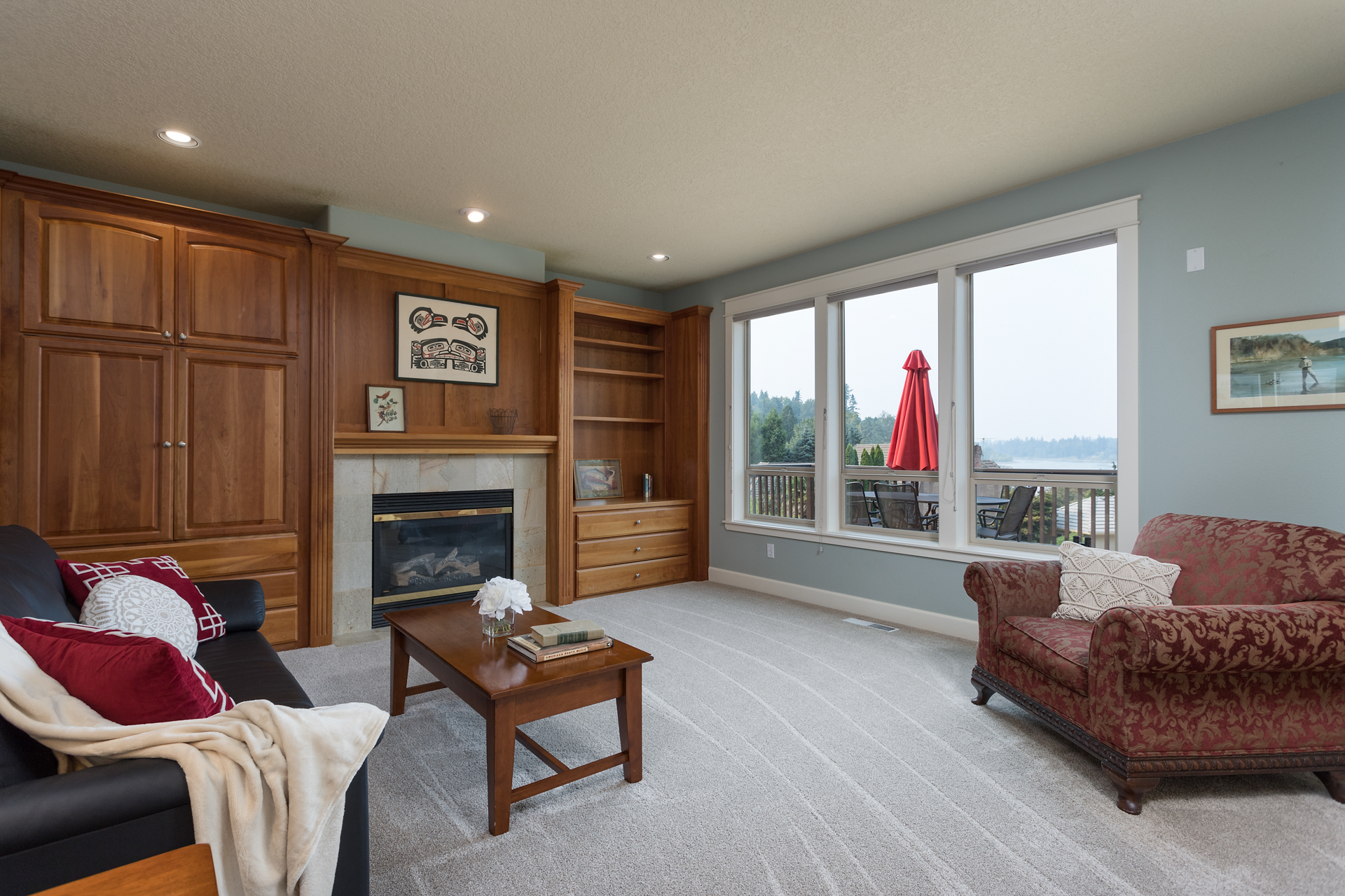 Family Room with View