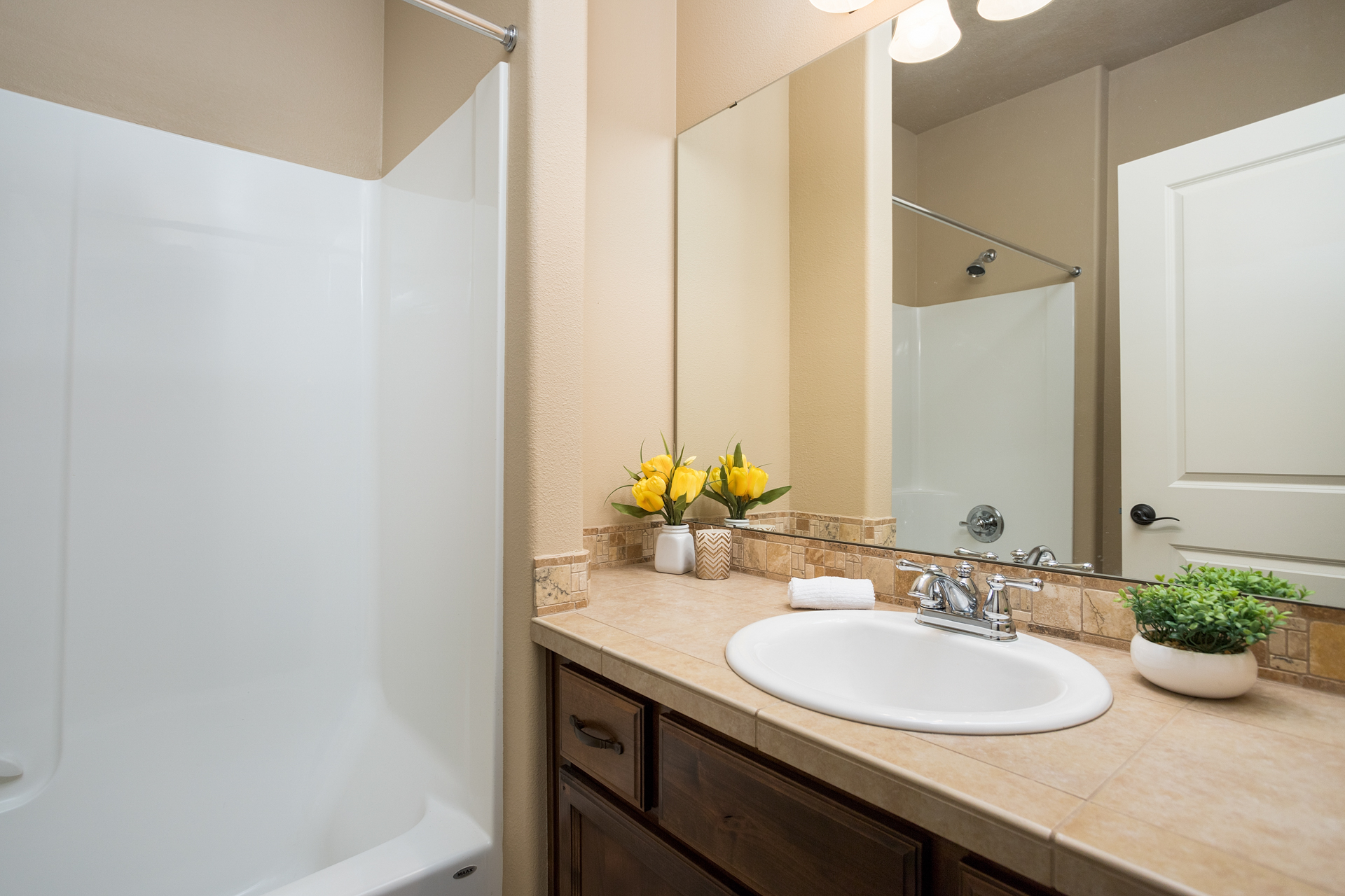 Soft Staged Bathroom