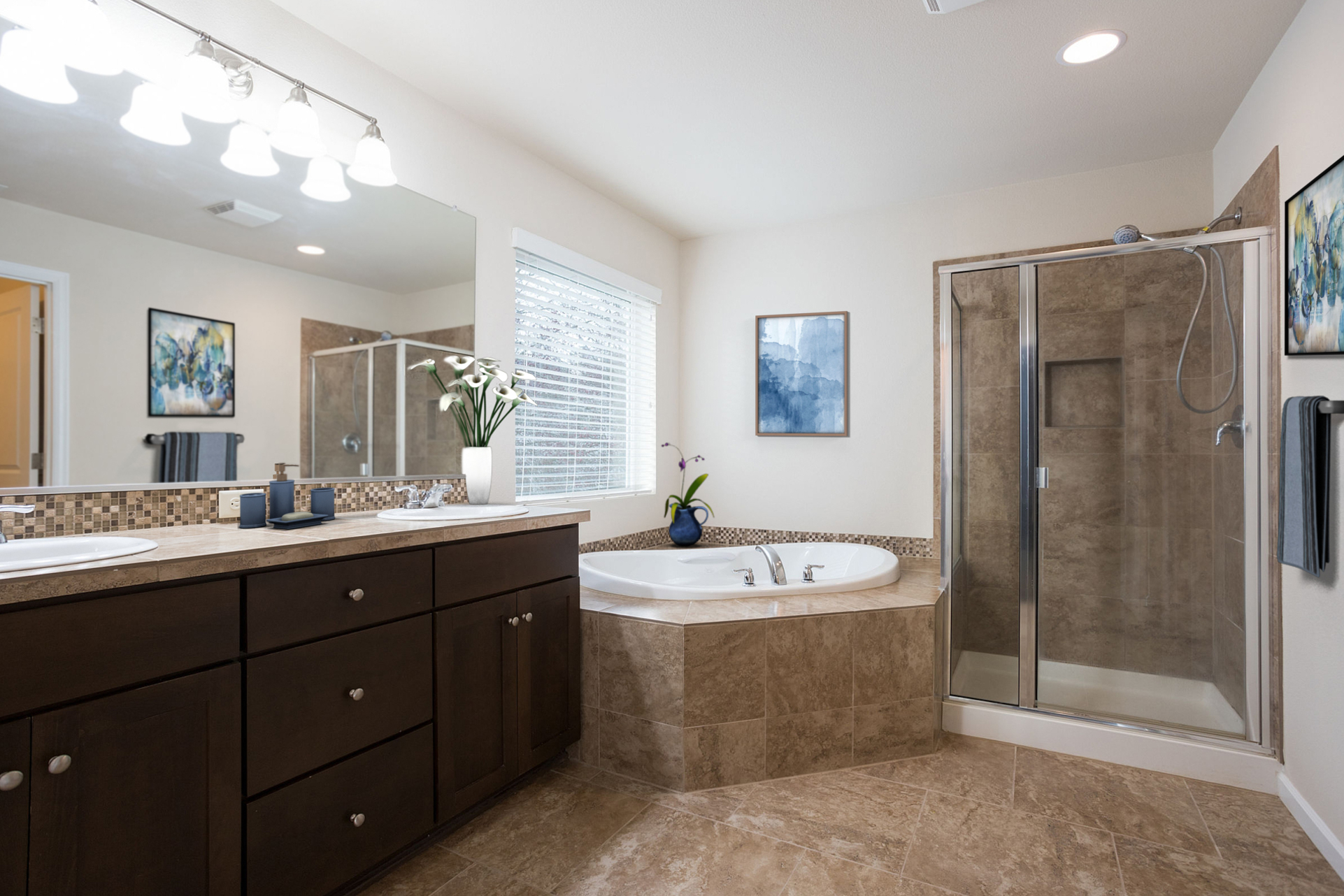 Master Bathroom Virtually Staged