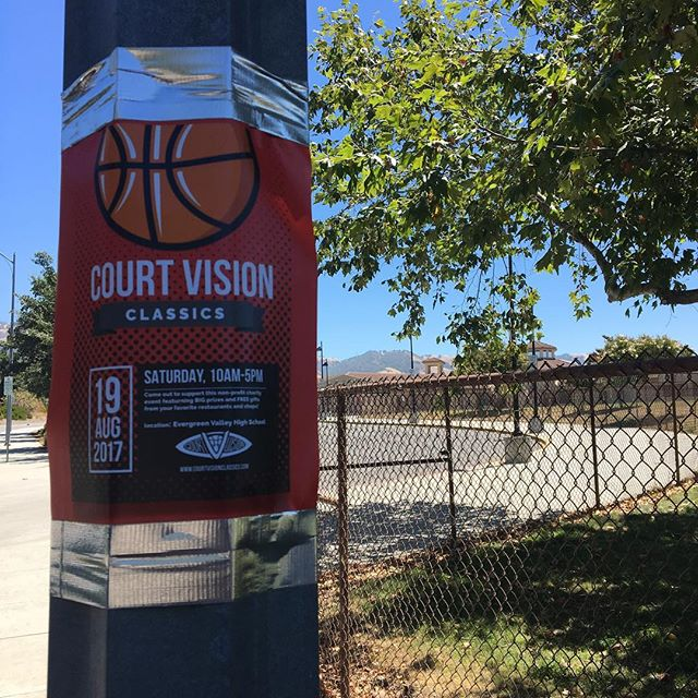 if you spot our CVC flyers around the evergreen neighborhood snap a pic of yourself with the flyer and DM us for a shoutout on our account 👀 #courtvisionclassics #cvc