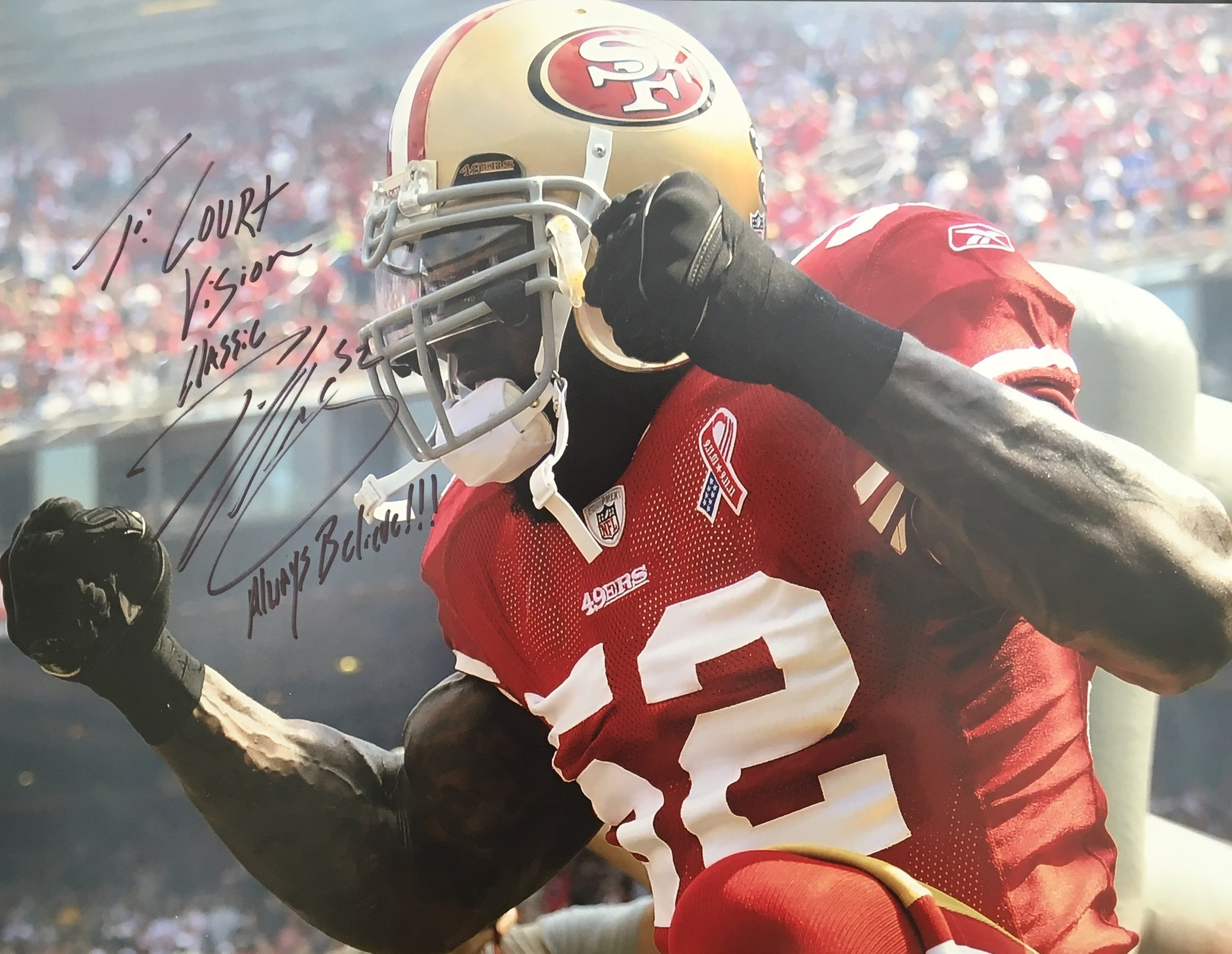 Patrick Willis showed up last year. You never know who's next... - The legendary 49ers linebacker personally donated and signed pictures and merchandise, which we raffled off at Court Vision Classics.