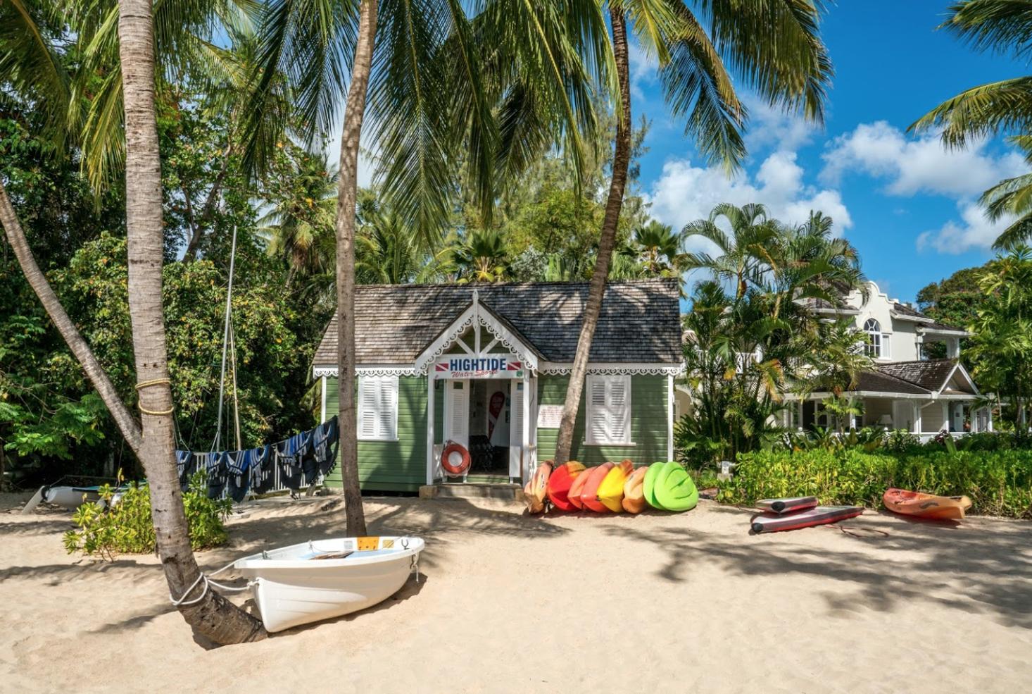 Water sports hut