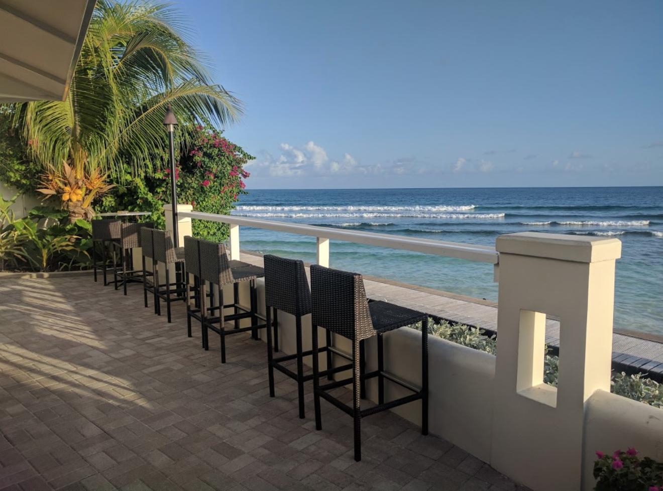 Restaurant beach view