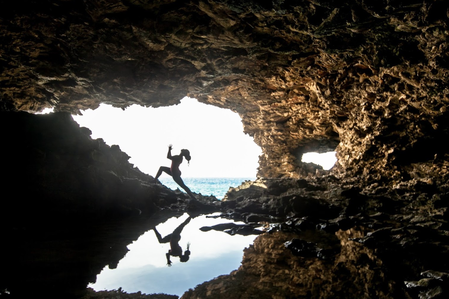 Cave opening to Atlantic Ocean