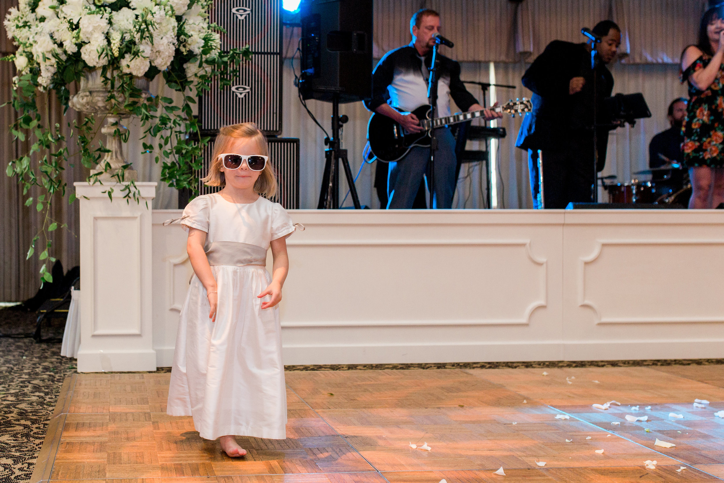 Our flower girl was READY to dance!