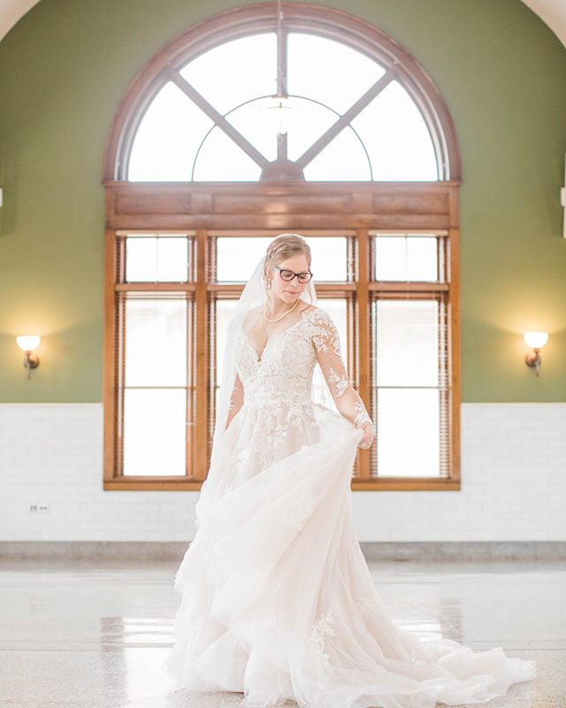 There's something magical that happens when brides put on their wedding dress ✨