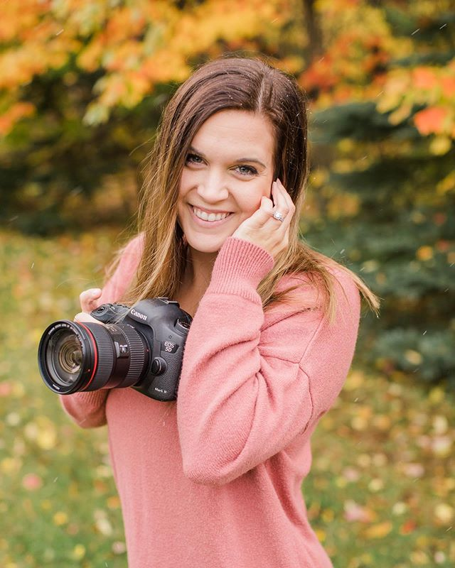 The social media experts say that occasionally I should show my face and introduce myself on my pages, so here I am 🤷🏻♀️ I'm Beth! The girl who started a photography business because I have a passion for capturing moments and memories for anyone from friends to strangers. I have tired eyes all the time because I have two kids, and a full time job on top of this side gig of mine. My husband and I have been married for almost 5 years and we recently uprooted our family to Ham Lake, MN after being in Jamestown, ND since 2010. . . . My favorite sessions are engagements, weddings, seniors, and in-game sports. In the last 5 or so years, I've spent hundreds of hours learning about my camera and investing in training so I can serve my clients better.  I love singing (I actually have a music degree!!) and I could watch football for hours on hours. My dream job would be a professional mascot and/or pumping people up with the energy I have. :)