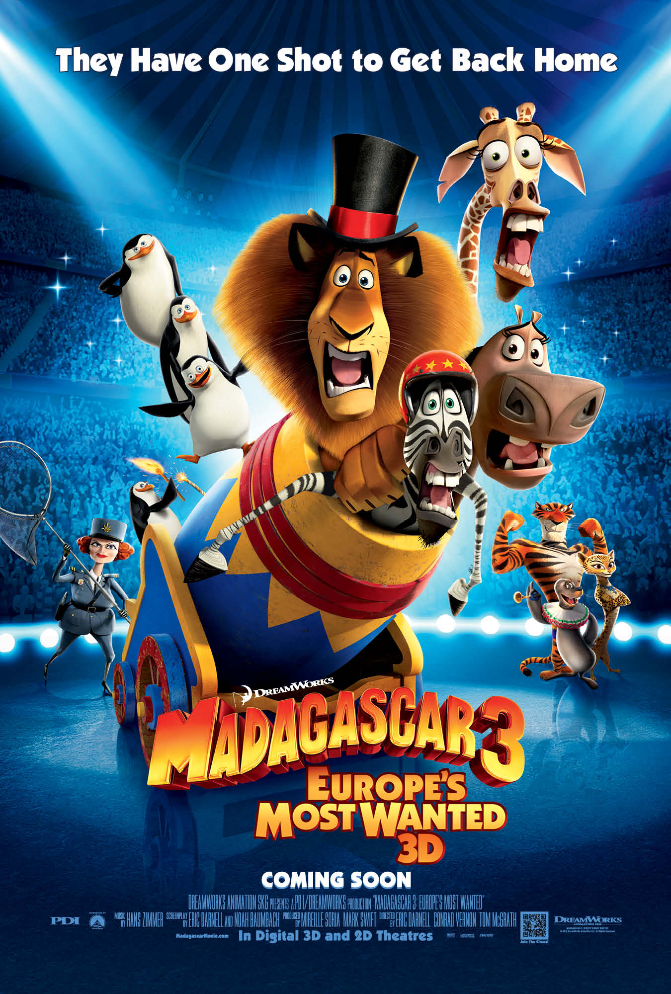 MADAGASCAR 3: EUROPE'S MOST WANTED - Music by Hans Zimmer Assistant Music Editing by Jessica Weiss