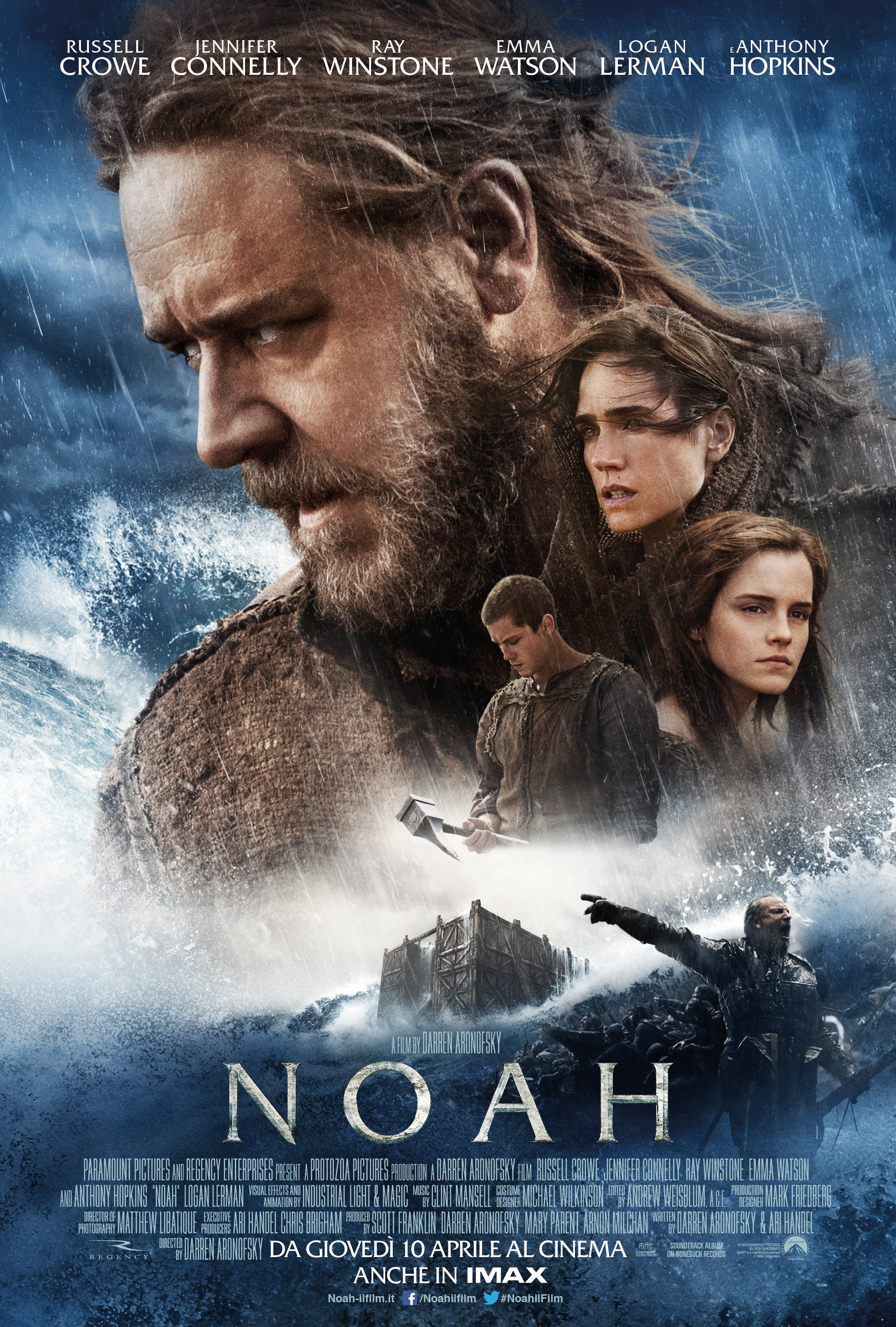 NOAH - Music by Clint MansellAssistant Music Editing by Jessica Weiss