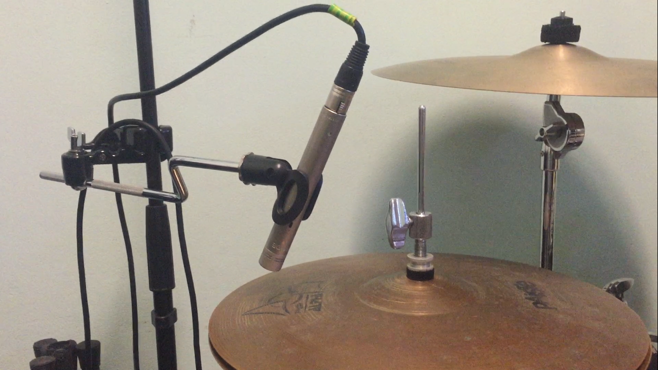 Hi-hat microphone placement
