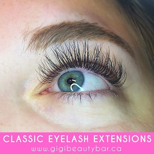 Gorgeous classic lash extensions. Classic lashes are perfect for clients who already have a lot of lashes, but want to add more length. Classic lashes look more natural.  You can BOOK your appointments ONLINE! ✨ Check it out at, http://gigis-beauty-bar.genbook.com/ Questions? Feel free to contact via call/text 📞705-341-9089  Visit www.gigibeautybar.ca for details and view our list of beauty services✨ 📍Located @ 232 Main St Bobcaygeon, ON  #eyelashes #extensions #eyelashextension #bobcaygeon #kawarthalakes #peterboroughlashes #ontariolashes #lashes #salon #beauty #beautybar #lashme #oshawalashes #lashlift #eyelashperm #lashperm #beautybar #kawarthapeeps #eyelashartist #lashartist #lashtech #oshawalashes #volumelashextensions #volumelash #lashliftandtint #browwax #browtint #browtinting #lashlifting #lashgoals