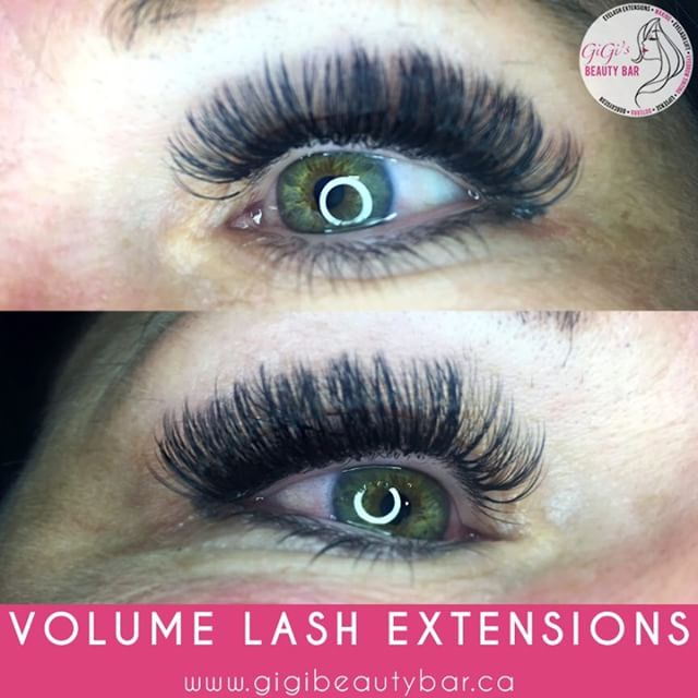 Left and right eyelash extensions for Korin. Volume eyelash extensions is the most versatile lash treatment offered, and will suit almost everyone. Volume lashes are perfect for the older client with sparse natural lashes, where extra coverage and a soft fluffy look is required!  ______________ You can now BOOK your appointments ONLINE! Check it out along with our other services we offer such as a waxing! http://gigis-beauty-bar.genbook.com  Questions? You may call/txt 📞705-341-9089  Visit www.gigibeautybar.ca for our list of beauty services✨ 📍Located @ 232 Main St Bobcaygeon, ON _______________ #eyelashes #extensions #eyelashextension #bobcaygeon #kawarthalakes #peterboroughlashes #ontariolashes #lashes #salon #beauty #beautybar #lashme #oshawalashes #lashlift #eyelashperm #lashperm #beautybar #kawarthapeeps #eyelashartist #lashartist #lashtech #oshawalashes #volumelashextensions #volumelash #lashliftandtint #browwax #browtint #browtinting #lashlifting #lashgoals
