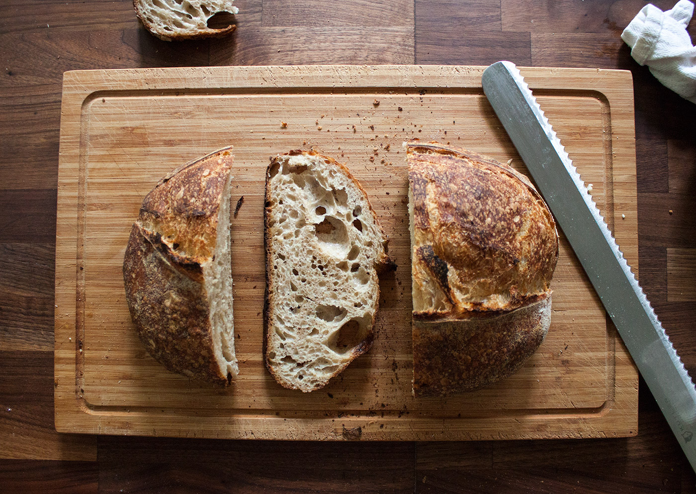 Upstate levain - Our signature bread made with 100% NY state grown and milled flour. A mix of high extraction flour and whole wheat gives this bread great flavor and nutrition without the feeling of a typical whole wheat bread.