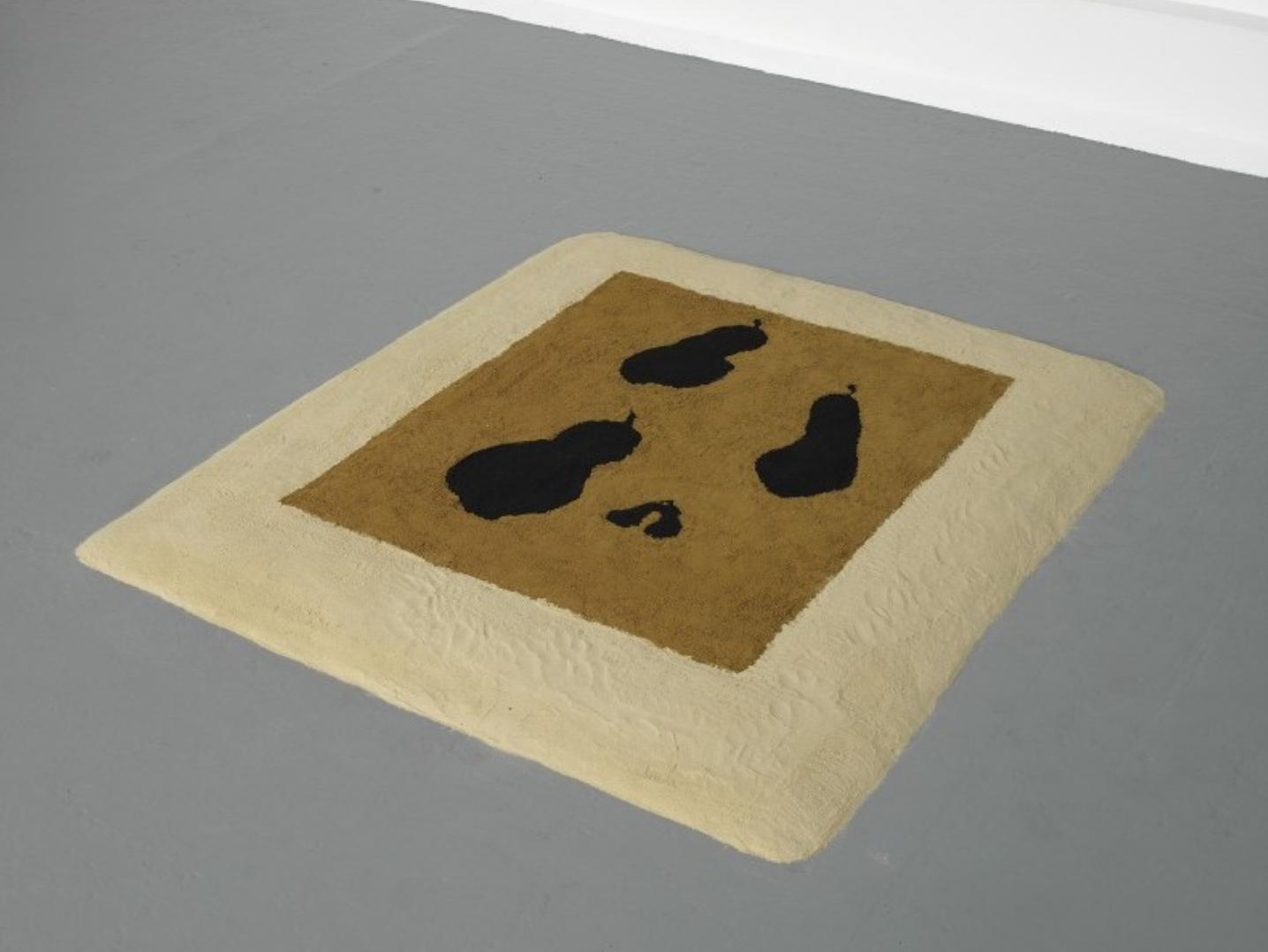 Allison Katz , Poires Noires Sand Painting , 2009