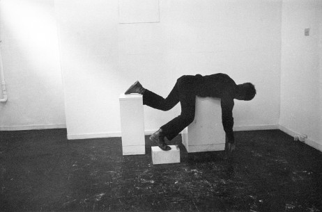 Bruce McLean,  Pose Work for Plinths,  1971/2011, 15 b/w photographies, detail