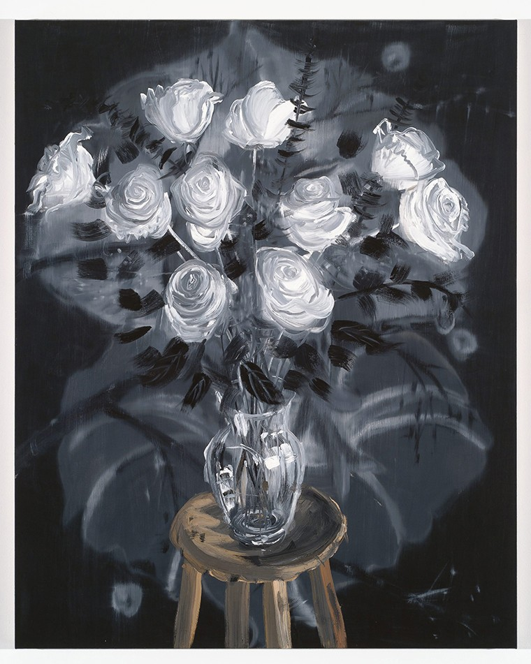 Ann Craven,  Roses (Morning Glory),  2010.