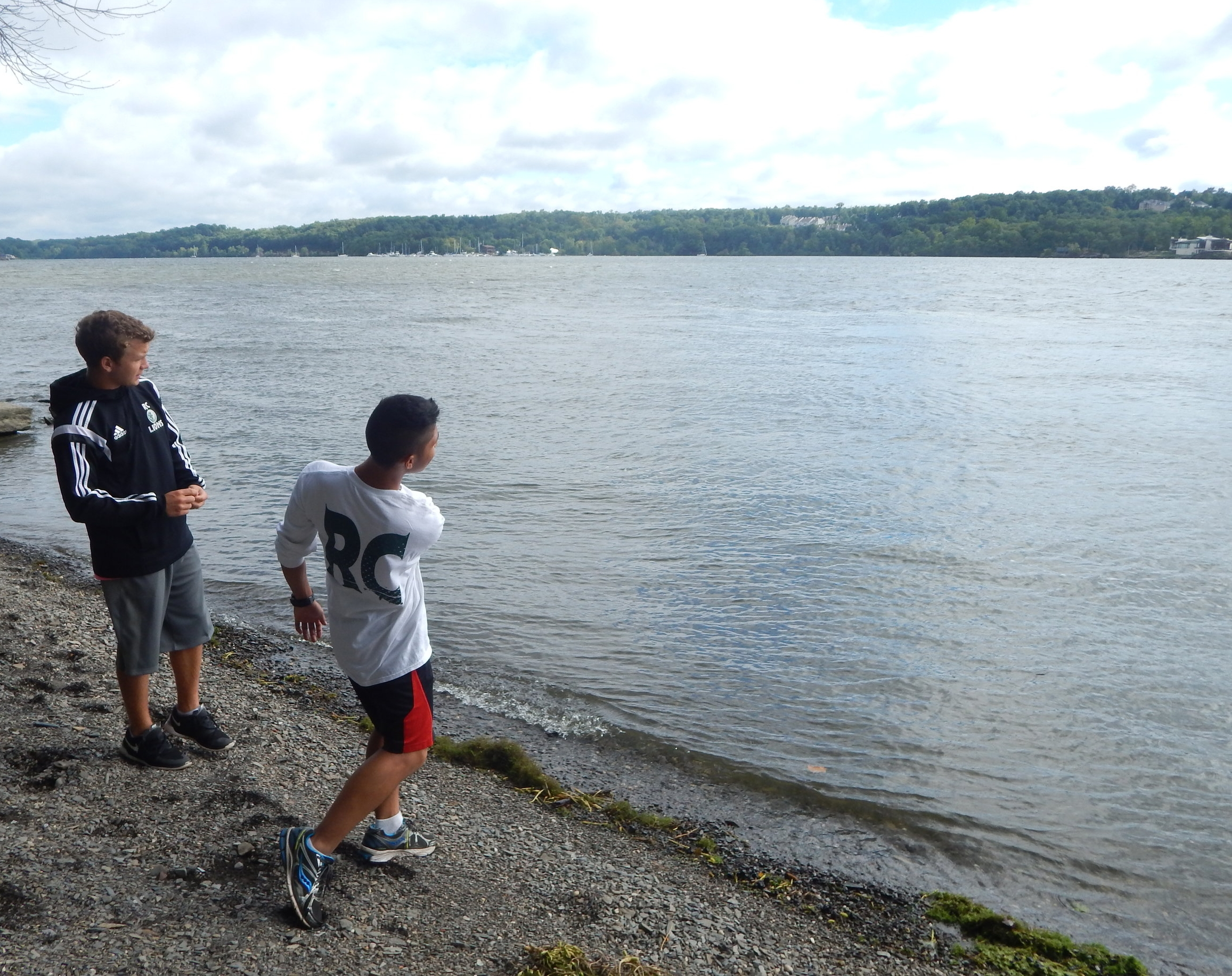 RETREATS - Retreats are offered for all four years.  They are an optional, but very popular part of life at Roselle Catholic.  We use the Marist Brothers Retreat House  in Esopus, NY, right on the Hudson River, a beautiful spot to which our students always want to return.