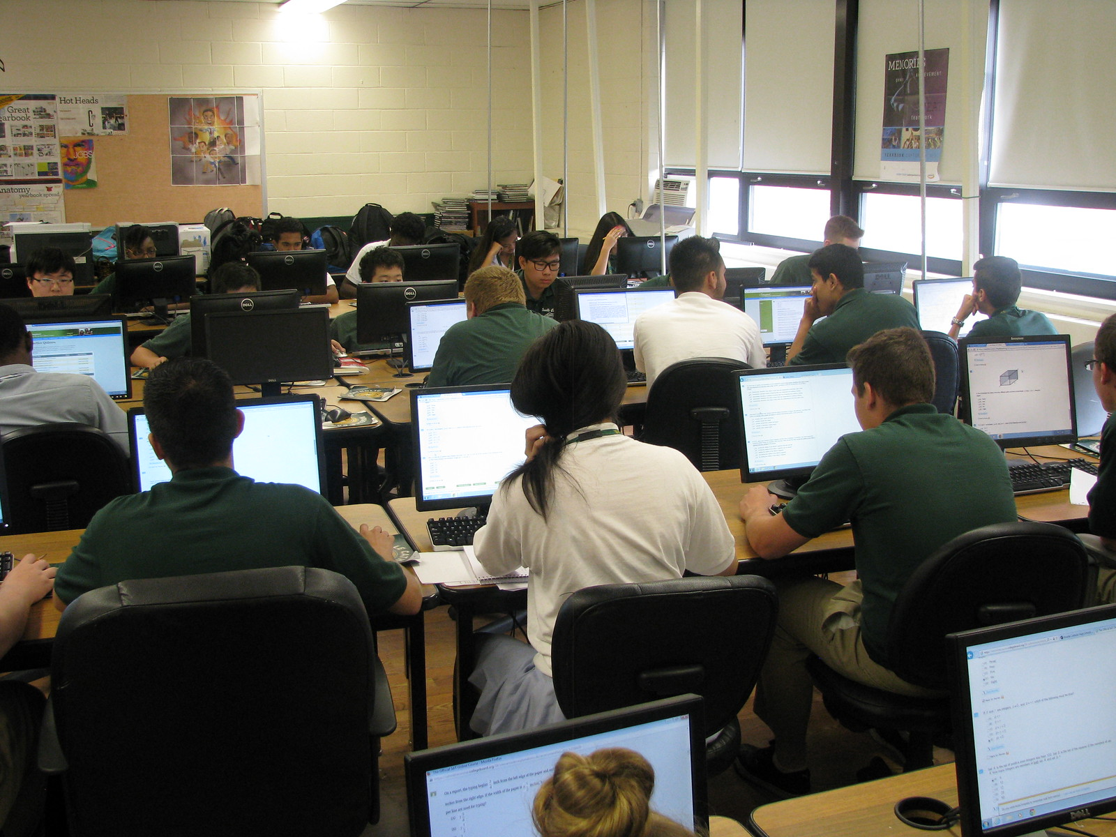 SAT Prep - The SAT is a test developed and administered by The College Board which many colleges use as one criterion in admissions decisions.  A student's performance on the SAT is, therefore,  an important factor in determining the scope of his/her college options. That performance can be enhanced by a good test preparation experience.To insure that all our students have access to such an experience, RC conducts its own SAT test prep course, which all our Juniors take during the two weeks immediately preceding the June administration of the SAT.  Over those ten school days, our Juniors spend the entire day in test prep classes organized and conducted by our faculty, classes that cover both content and test-taking strategies. We use materials supplied by The College Board itself, which include two full scale practice SAT tests, for which students receive computer generated question-by-question analysis;  this analysis permits them to identify their particular strengths and weaknesses, and thus helps them better prepare for the exam itself.As most of our Juniors take the SAT in March, before our test prep program, and then again in June, immediately after the program, we are in a unique position to assess our program's effectiveness.  We see every year that almost all of our students show solid improvement from March to June, with some of them enjoying an increase of hundreds of points.