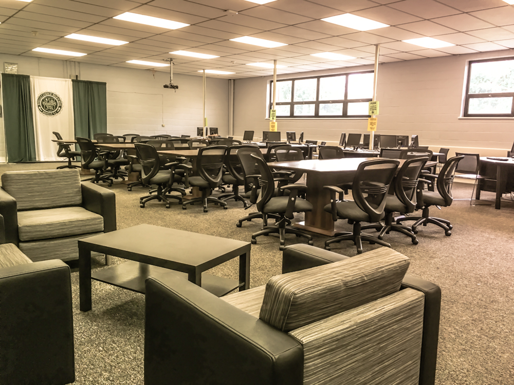 Library - Our library received a makeover during the 2016-2017 academic school year. This is a space where students can sit back, study, read, or just enjoy the quiet company of friends. With many different seating options, students can feel comfortable as they immerse themselves in learning.