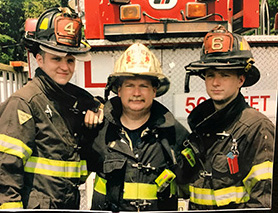 Ed and sons, fourth generation EFD firefightersand two generation RC grads
