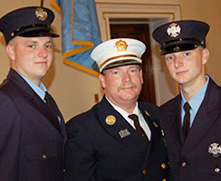 Ed had the honor of swearing in his two sons,Eddie and Nick, as fourth generation firefighters in the EFD