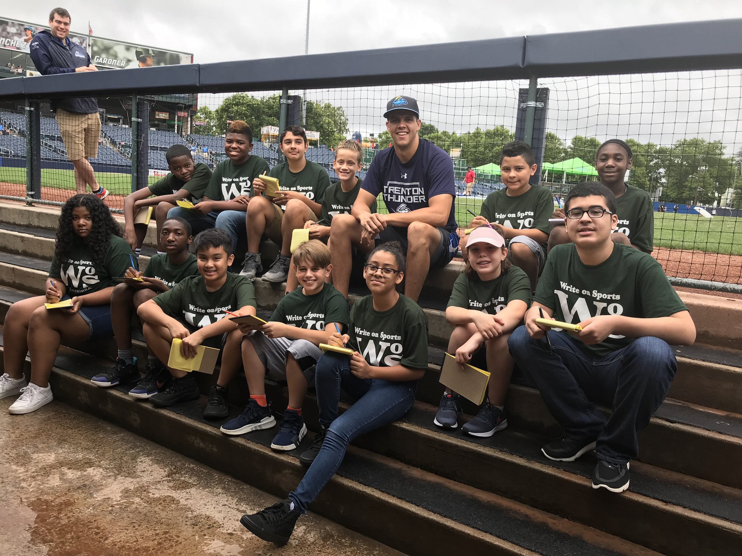 Roselle Catholic WoS Campers interviewed Trenton relief pitcher James Reeves.
